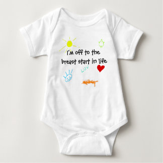 Breast Start Baby Bodysuit