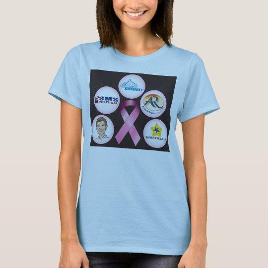BreastCancerWalk_front_black T-Shirt