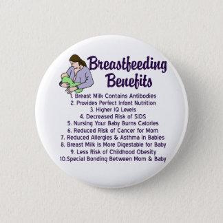 Breastfeeding Benefits 6 Cm Round Badge