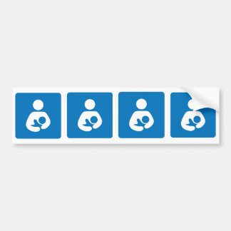 breastfeeding icon bumper sticker
