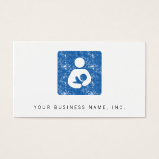 Breastfeeding Icon Letterpress Style Texture Business Card