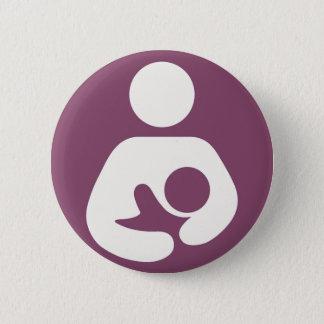 Breastfeeding Icon - Mauve 6 Cm Round Badge