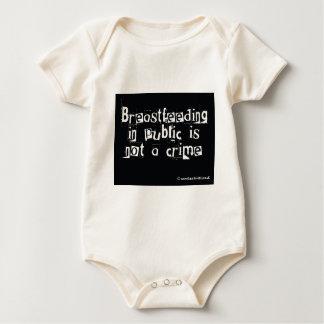 Breastfeeding in public is not a crime baby bodysuit