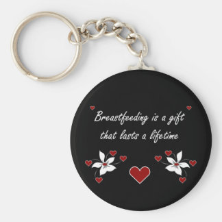 Breastfeeding is a Gift Basic Round Button Key Ring