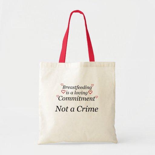 Breastfeeding Not a Crime Canvas Bag