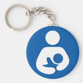 Breastfeeding / Nursing Icon Basic Round Button Key Ring