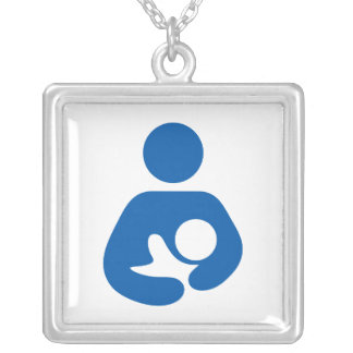 Breastfeeding / Nursing Icon Silver Plated Necklace