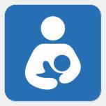 Breastfeeding / Nursing Icon Square Stickers