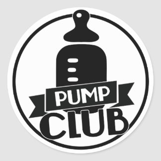 Breastfeeding Pump Club Classic Round Sticker