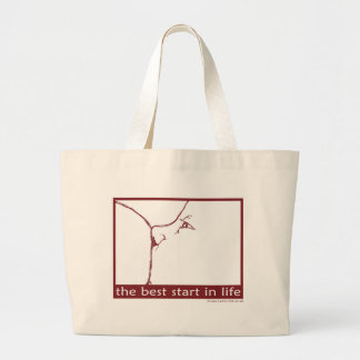 Breastfeeding - the best start in life canvas bag