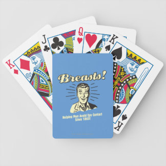 Breasts: Helping Avoid Eye Contact Bicycle Playing Cards