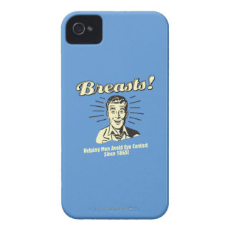 Breasts: Helping Avoid Eye Contact iPhone 4 Cases