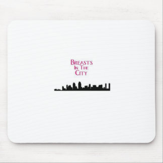 Breasts in the City-Skyline Mouse Pad