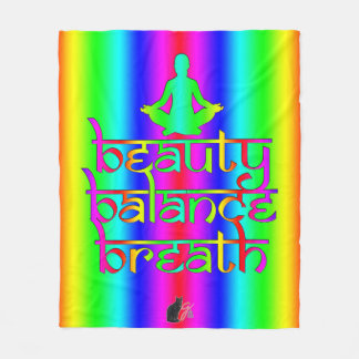 Breath Balance Beauty Rainbow Intentions Fleece Blanket