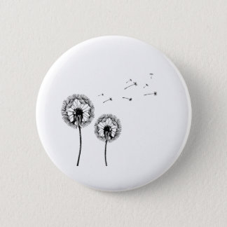 Breath flower 6 cm round badge