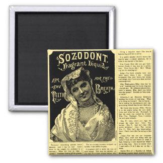 Breath Mint Newspaper Advertisement Square Magnet