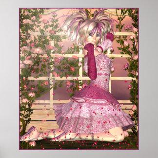 Breath of Rose Fantasy Art Poster