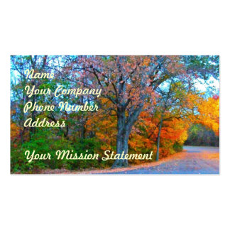 Breath-taking Autumn Day Getaway! Pack Of Standard Business Cards
