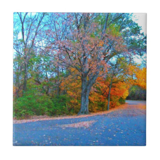 Breath-taking Autumn Day Getaway! Small Square Tile