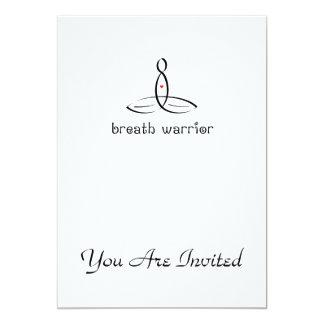 Breath Warrior - Black Fancy style 13 Cm X 18 Cm Invitation Card