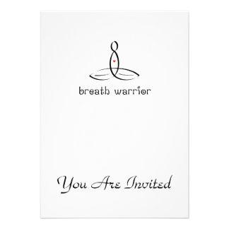 Breath Warrior - Black Fancy style Personalized Invites