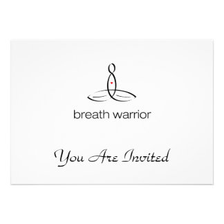 Breath Warrior - Black Regular style Personalized Invites