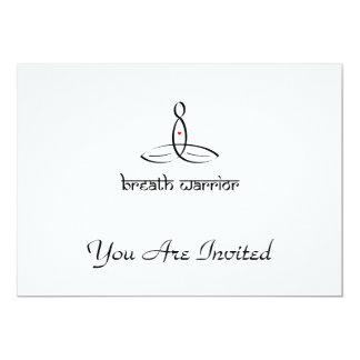 Breath Warrior - Black Sanskrit style 13 Cm X 18 Cm Invitation Card