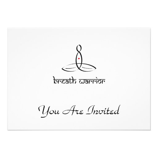 Breath Warrior - Black Sanskrit style Personalized Invite