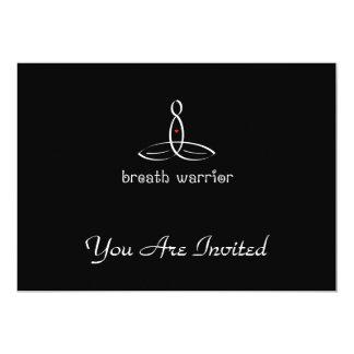 Breath Warrior - White Fancy style 13 Cm X 18 Cm Invitation Card