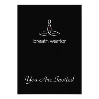 Breath Warrior - White Regular style Invitation