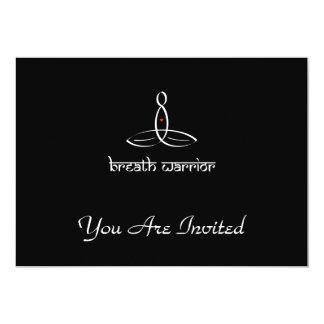 Breath Warrior - White Sanskrit style 13 Cm X 18 Cm Invitation Card