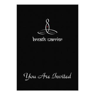 Breath Warrior - White Sanskrit style Personalized Invitation