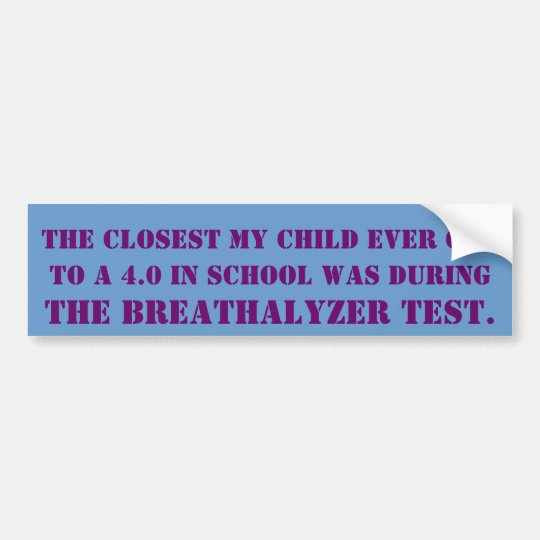 Breathalyzer Test Bumper Sticker