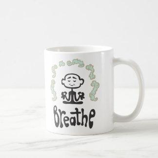 Breathe Basic White Mug