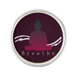 """""""Breathe"""" Beautiful Buddha. Lapel Pin"""