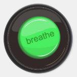 Breathe Button Sticker