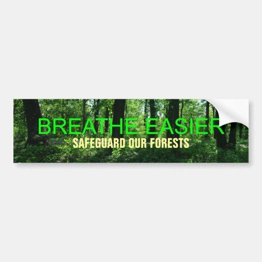 Breathe Easier! Bumper Sticker