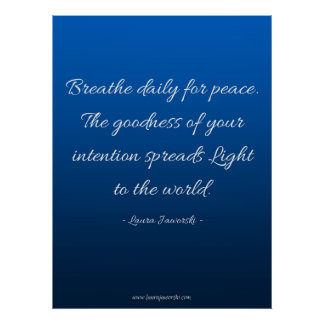 Breathe for Peace Poster
