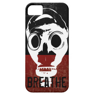 """breathe"" gas mask iPhone 5 cover"