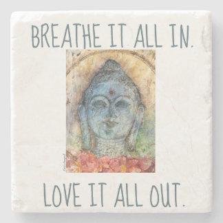 Breathe In Zen Buddha Stone Coaster