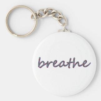 Breathe Basic Round Button Key Ring