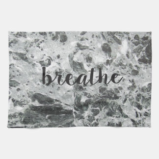 Breathe marble tea towel