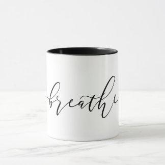 Breathe Meditation Yoga Minimalistic Mug