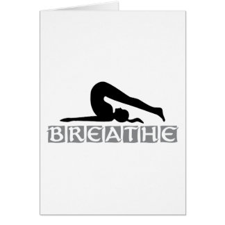 BREATHE Yoga Greeting Card
