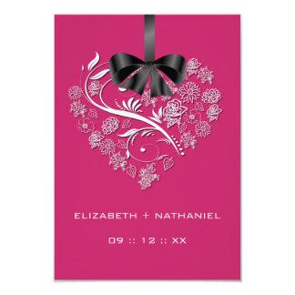 Breathless Heart RSVP Card - passion pink 9 Cm X 13 Cm Invitation Card