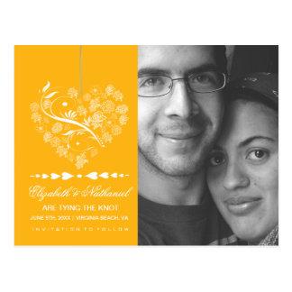 Breathless SAVE THE DATE Postcard- marigold Postcard
