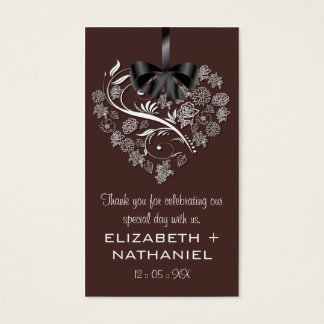 Breathless Wedding Favor Biz Favor Tag-chocolate Business Card