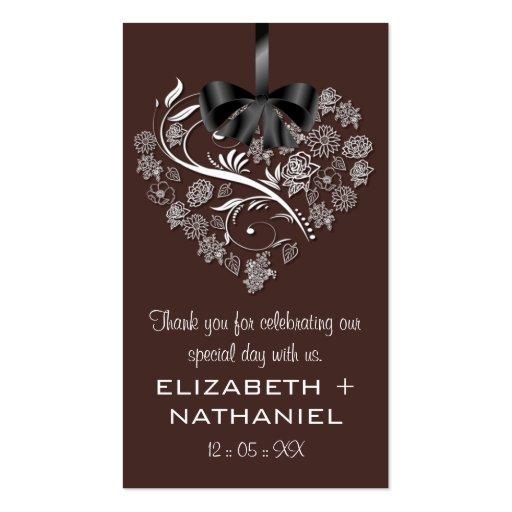 Breathless Wedding Favor Biz Favor Tag-chocolate Business Cards