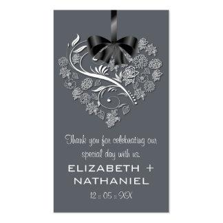 Breathless Wedding Favor Biz Favor Tag-slate Business Cards