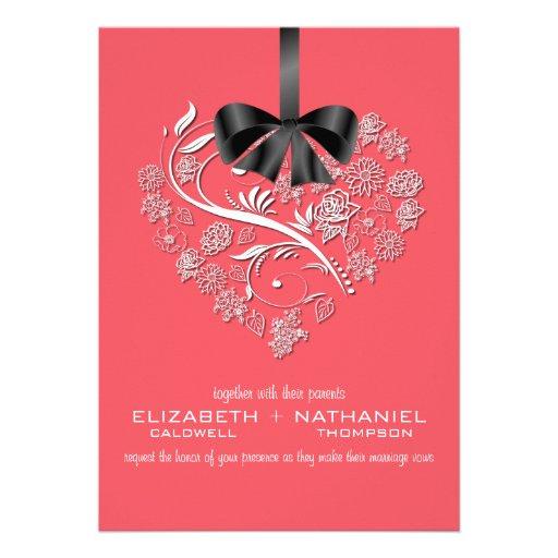 Breathless Wedding Invitation--coral